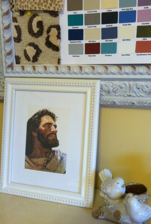 My own pic of Jesus. He looks like he's checking out the paint chips!