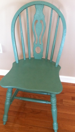 Painted two of the four chairs in Country Living Paint- Bayberry