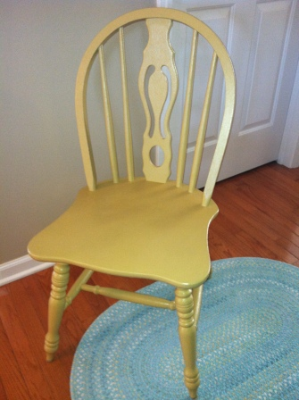 Painted two of the four chairs in Country Living Paint - Mustard